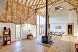 Aluminium Timber Composite windows doors sliding doors Barn Conversion Norfol