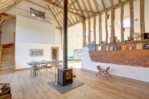 Aluminium Timber Composite windows doors sliding doors Barn Conversion Norfolk