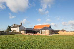 Composite windows Barn Conversion Norfolk