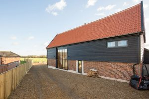 Aluminium Timber Composite windows doors sliding doors Barn Conversion Norfolk
